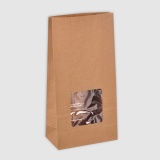 Stand Up Paper Bags With Window 0